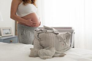 Kliniktasche für die Geburt