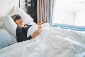 Schwangere Frau schläft schlecht