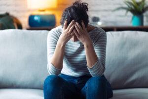 Schwangere ist depressiv
